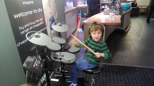 Children + Drums normally not a good idea