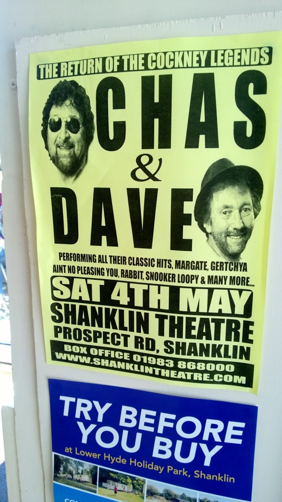 Chas and Dave poster on Isle of Wight