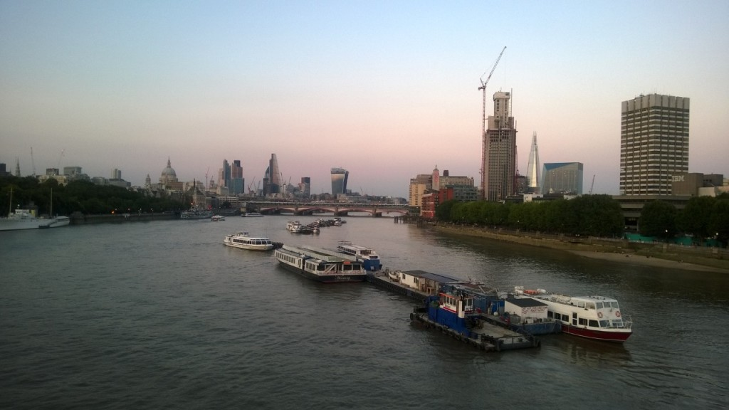 London from Waterloo Bridge