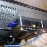 Raspberry Pi mounted on back on monitor using VESA plate